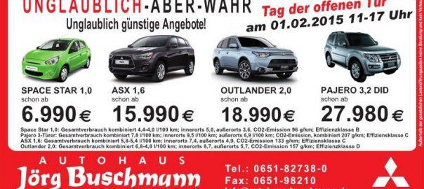 Aktionen Autohaus Buschmann Trierweiler Februar 2015
