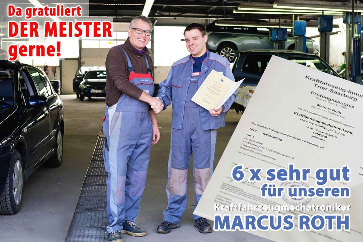 Gesellenprüfung KFZ-Mechatroniker Trier 2015