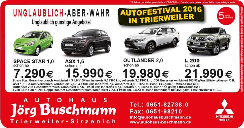 AutoFestival 2016 Mitsubishi Trierweiler