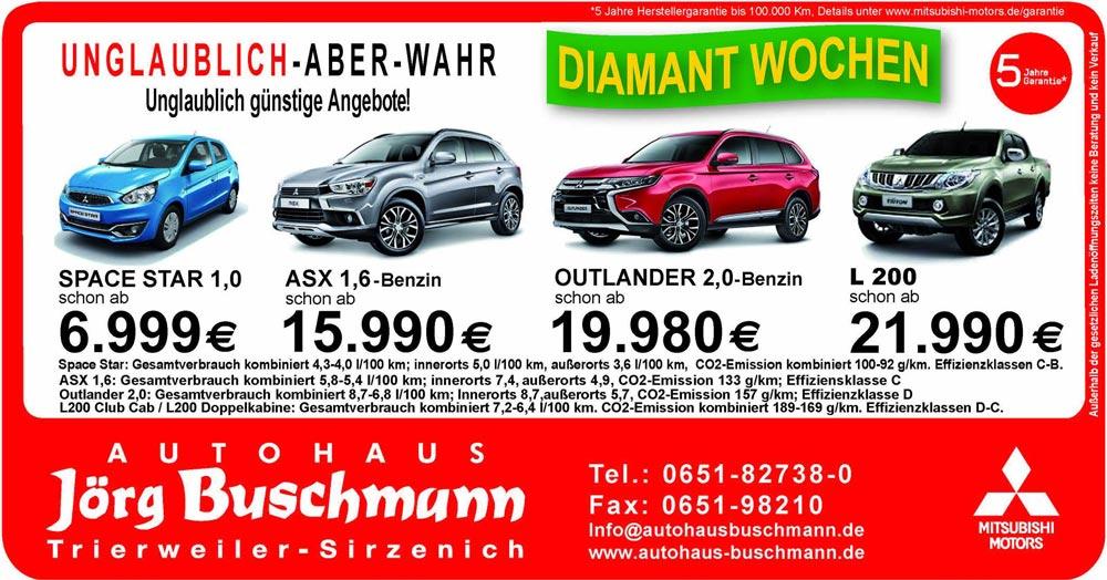 Diamant Wochen Autohaus Buschmann
