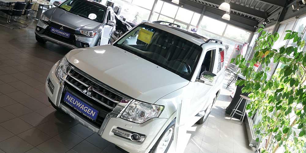 Mitsubishi Autohaus Showroom Neuwagen