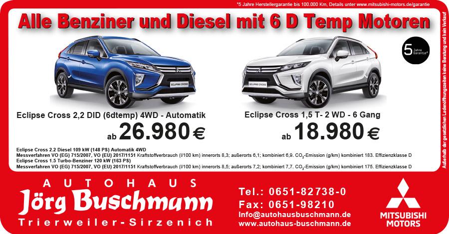 Benziner und Diesel mit 6D Motoren Aktion