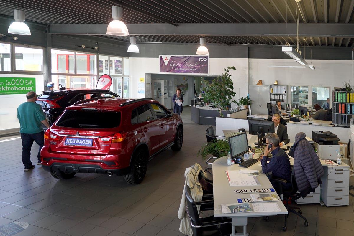 Showroom Autohaus Jörg Buschmann Trier