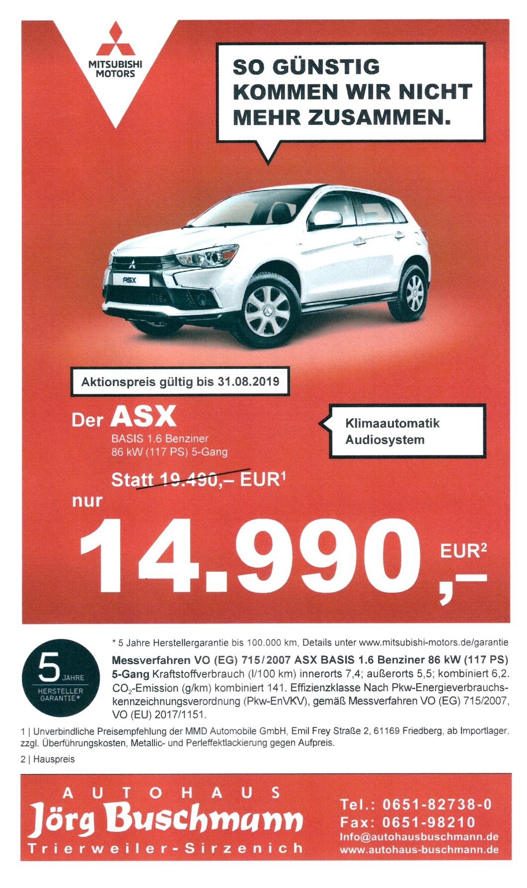 Mitsubishi ASX Angebot