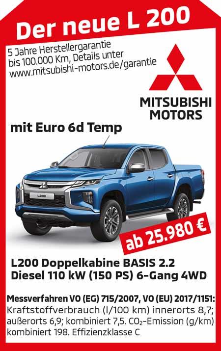 Der neue Mitsubishi L200 AKTION