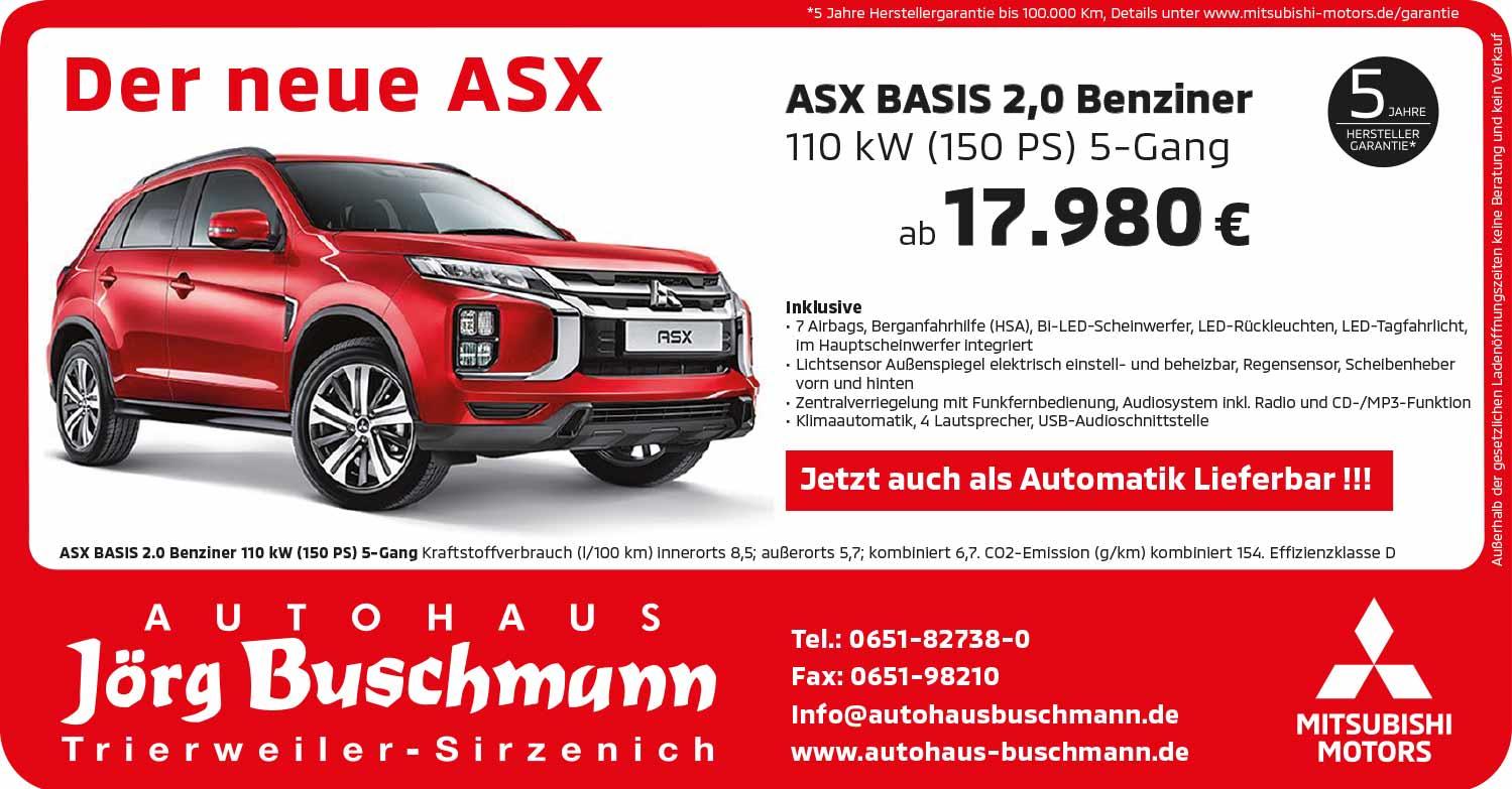 Mitsubishi ASX Basis 2,0 Benziner
