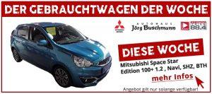GWDW Gebrauchtwagen der Woche Mitsubishi Space Star Edition 100+